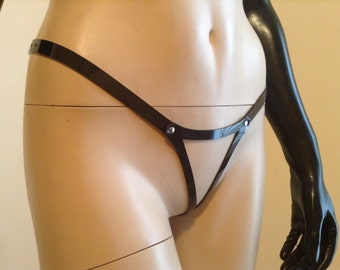 Vegan Brazilian-Style Open Front Thong