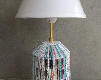 Book color recycled lamp table lamp