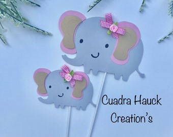Elephant baby shower/ elephant centerpieces stick/ baby shower decorations/ elephant  theme