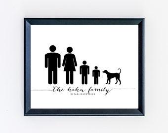 Customized Family Print - Custom Family Art - Family Print - Family Art