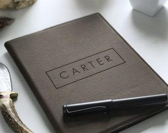 Personalized Leather Portfolio, Corporate Gift, Business Logo, Boyfriend Gift, Groomsman Gift, Personalized Padfolio, Graduation Gift