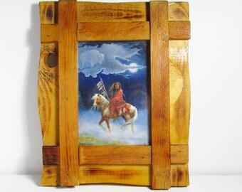 M Carolselli Native American Kunst Druck handgefertigte Holzrahmen