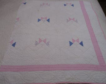 Vintage Feedsack Cutter Quilt Piece-#2-Pastel-Easter-Photography Background