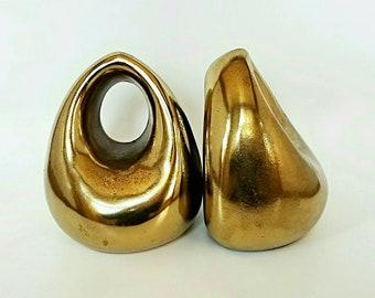 Ben Seibel Bookends, Brass, Orb, Mid Century