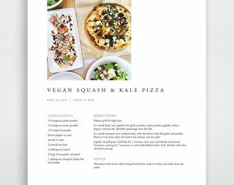 Good Printable Recipe Binder Kit, Printable Recipe Books, Recipe Book Kit,  Printable Cookbook With