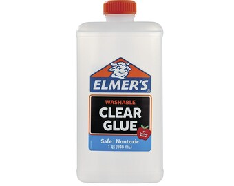 Elmer's Liquid Washable Glue, Washable Adhesive, 32oz; Homemade Slime, Paper Crafts, Art Work, School, Kids Crafts, Cards
