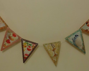 Rustic Bunting Wedding Bunting Cup Cake Lover Bunting Paper Garland Birthday Gift