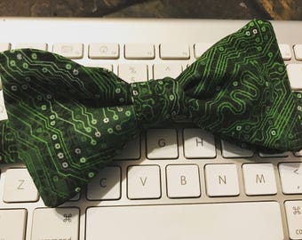 Geeky Circuit Bow Tie