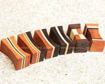 Wooden Chopstick Rest Chopstick Holder Rosewood White Wood Set of 6 #7