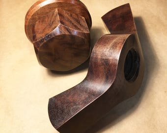 Walnut WINGNUT! With bolt and washer. AAA+ Oregon Black walnut!