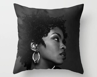 Lauryn Hill Decorative Pillow, Square pillow with\ without zipper