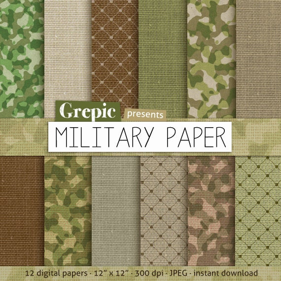 Sale 50 Military Paper Pack Military Paper With
