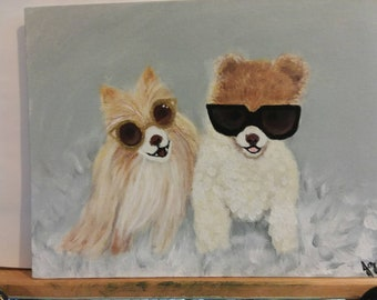 Dogs acrylic on canvas wall art
