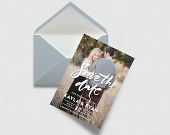 """Hand Lettered Save the Date Card - 4"""" x 6"""" - Digital or Printed"""