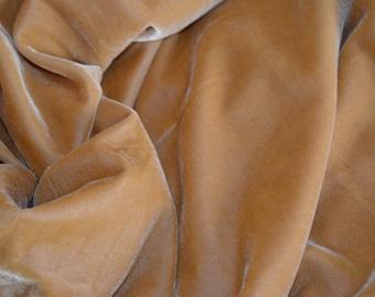 Velvet in Sand colour by the yard - V 55
