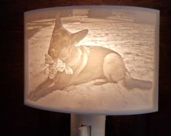 Custom Made Lithophane Night Light