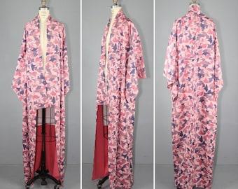 vintage kimono / silk robe / dressing gown / GINKGO japanese kimono