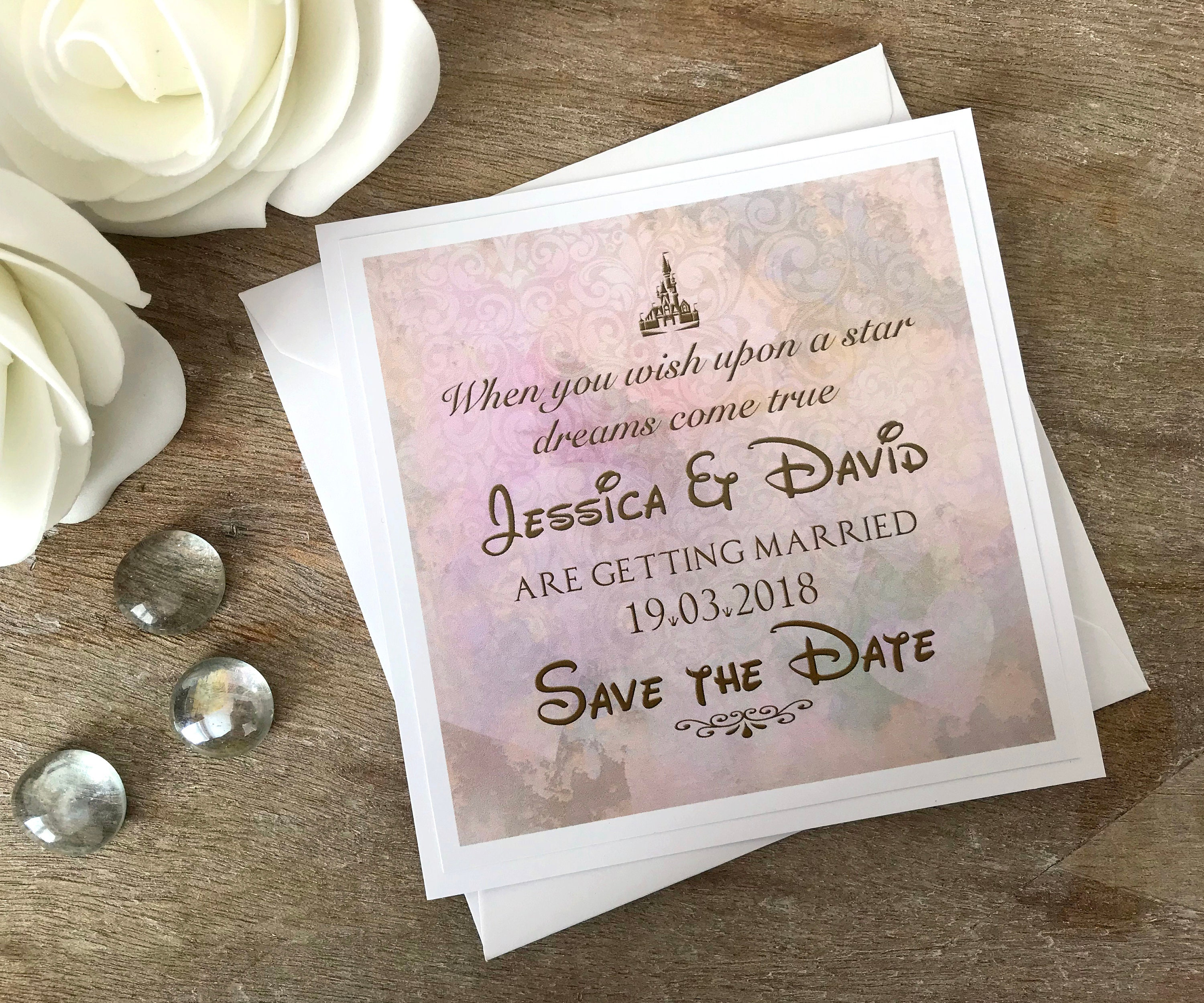 Save the Date cards Disney wedding Disney save the date
