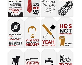 Shaun of the Dead Quote Gift Tags | Printable | Typography