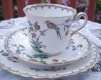 Vintage English China Teacup Set Trio 1930's