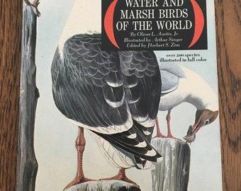 vintage Water and Marsh Birds of the World by Oliver L. Austin, Arthur Singer Herbert Sim, paperback 1967, birder guide