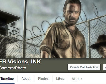 Walking Dead Facebook Cover / 3 Variations Included