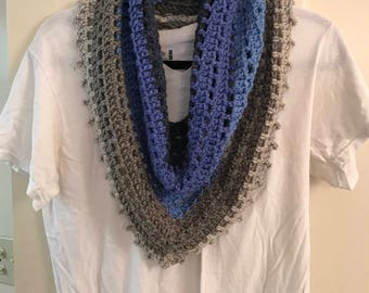 Blue/Gray Cowl (Adult)