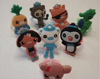 Octonauts Rings Party Favors Cupcake Toppers!