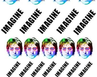 Nail Art Decals - 'Imagine' John Lennon
