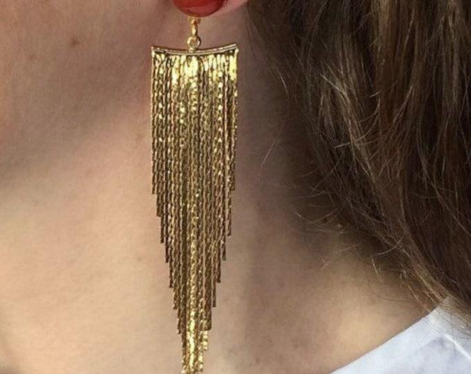 Drop earrings, Golden drops and carnelian gemstones, Gold plated pendant