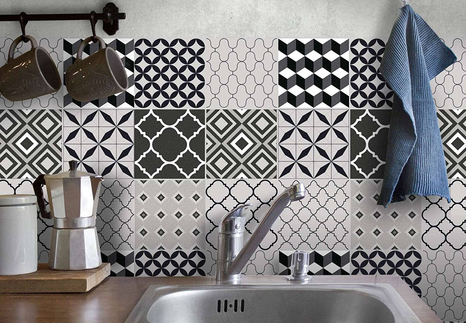 TILES DECALS Kitchen & Bathroom Sticker Tiles MOROCCAN Tile