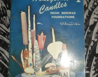 Craft Book - Honeycomb Candles - Beeswax foundations- Candle Crafting    - 1958
