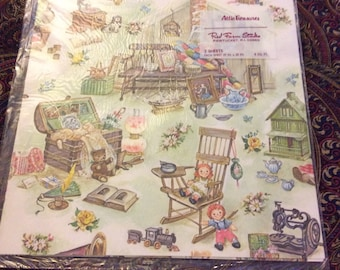 Clearance sale! Vintage gift wrap Attic Treasures