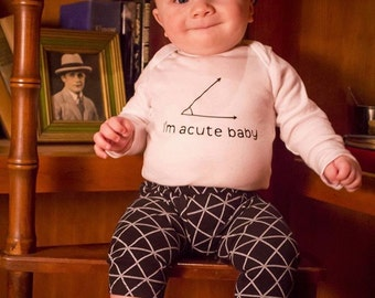 Im acute baby bodysuit, baby shower gift, funny gift for dad, personalized baby gift, pregnancy announcement, for nerd, for teacher, for mom