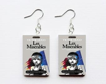 Les Miserables mini book earrings