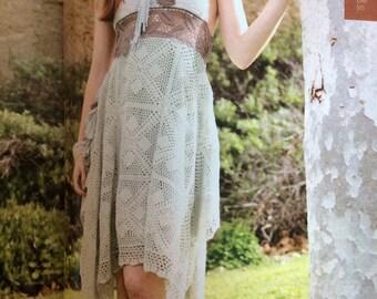 Crocheted halter dress