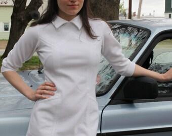 60's Space Age White Mini Dress