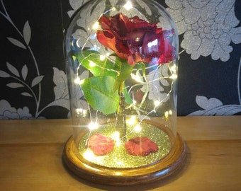 Enchanted Rose In Ornate Jar Large