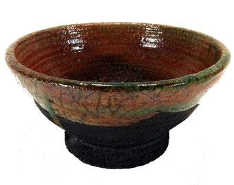Raku Ceramic Tea cup copper-handmade-unique piece by Mosraku