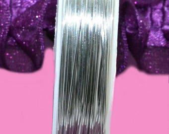 copper silver 0.6 mm wire spool 6 meters