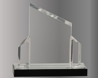 Silver Gold or Blue Beveled Post Impress Acrylic Award