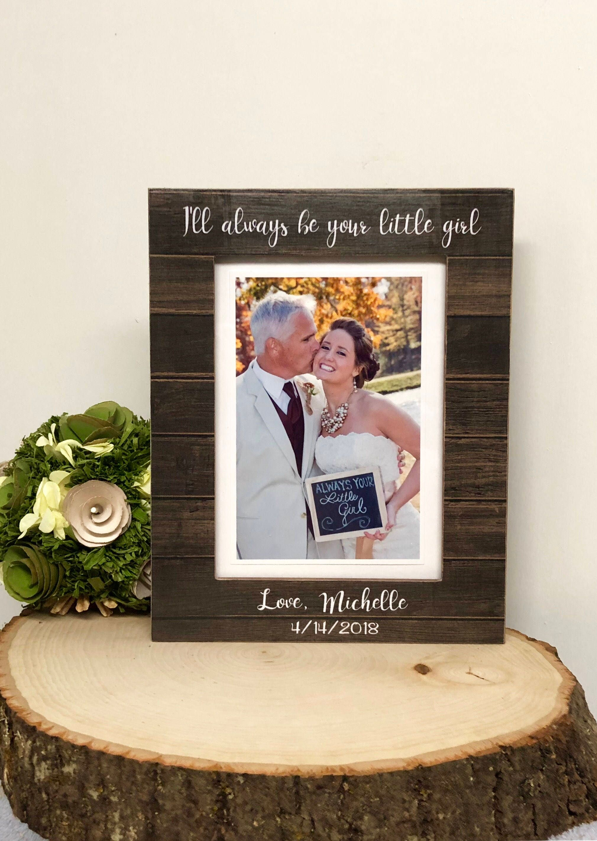 Father Of The Bride Frame Wedding Frame Wedding Gift To Dad