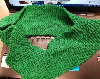 Handmade Child's Winter Green Scarf