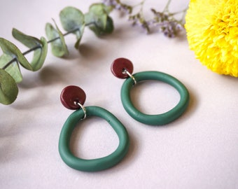 Polymer Clay Statement Earrings - 'Gum Drops'