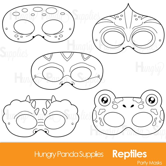Reptile Printable Coloring Masks Lizard Mask Turtle