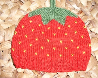 Sweet Fruit Strawberry Hat - pure cotton - many sizes