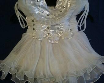 Robe ceremony dress girl 1 year-1an1/2/dress girl 1 year/wedding/baptism / white-embedding girl dress