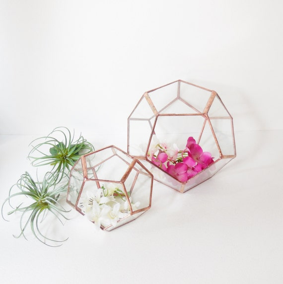 Wedding decor geometric glass terrarium gift for girlfriend