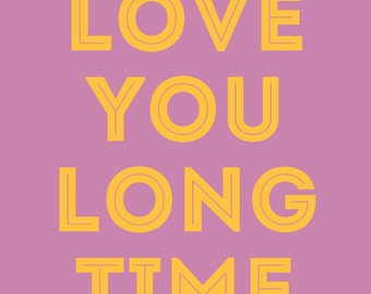 sarcastic/funny/love greeting card - love you long time