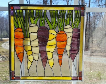 Stained Glass Carrots of Spring